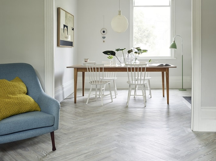 Amtico Spacia LVT flooring in white ash is available from Flooring 4 You Ltd