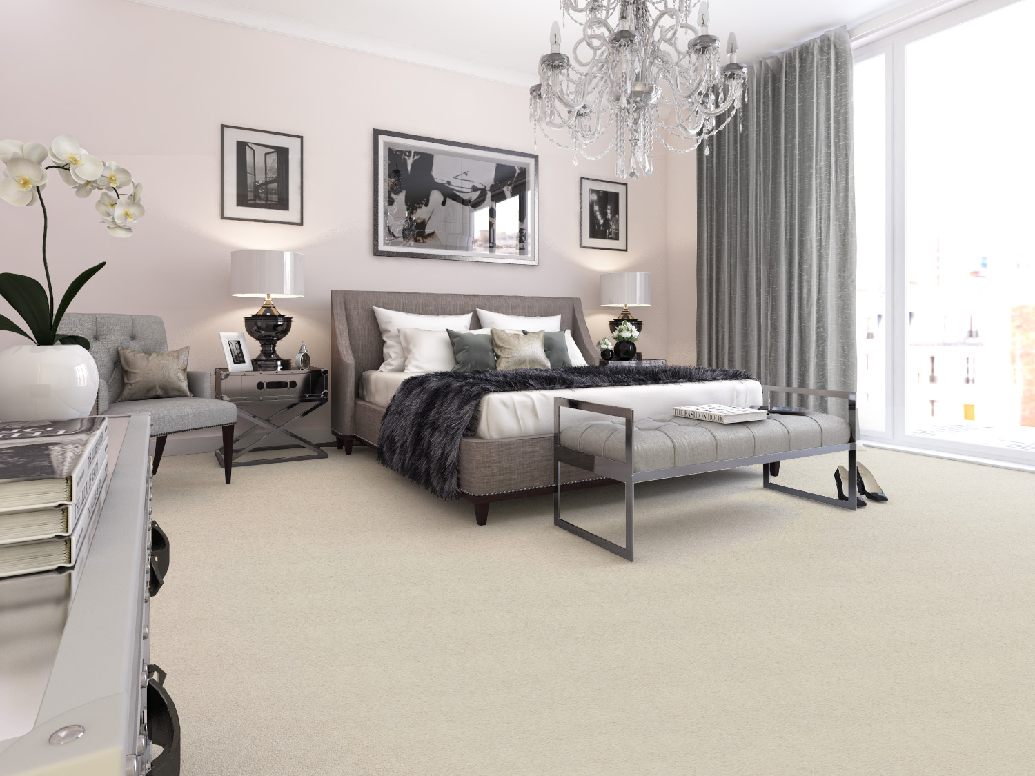 Axminster Carpets Devonia Plains in Cream Tea - great for modern spaces