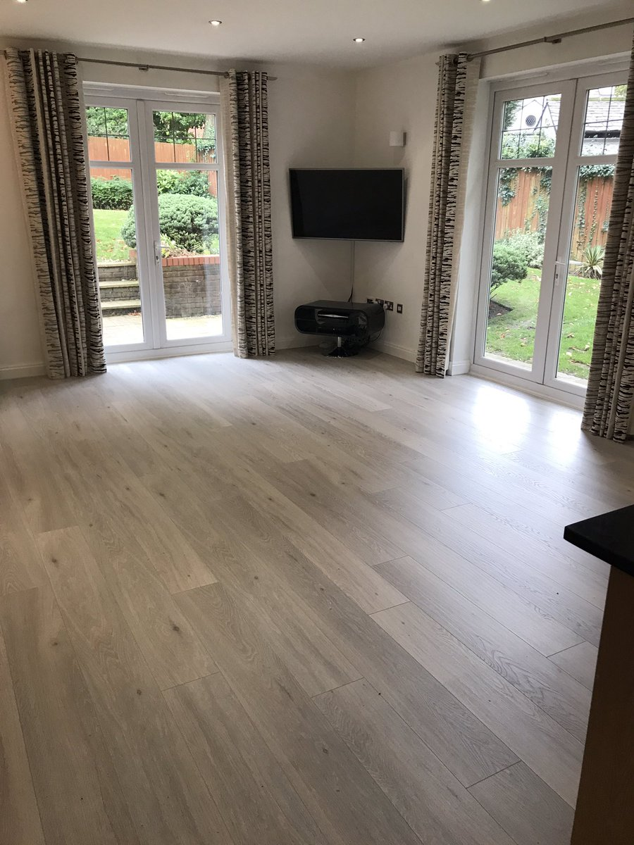 Finished Quick-Step laminate flooring installation, Largo LPU1660 in Long Island Light Oak, installed by Flooring 4 You Ltd