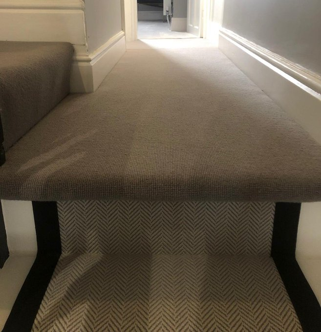 Alternative Flooring Wool Cord carpet in colour Smoke installed by Flooring 4 You
