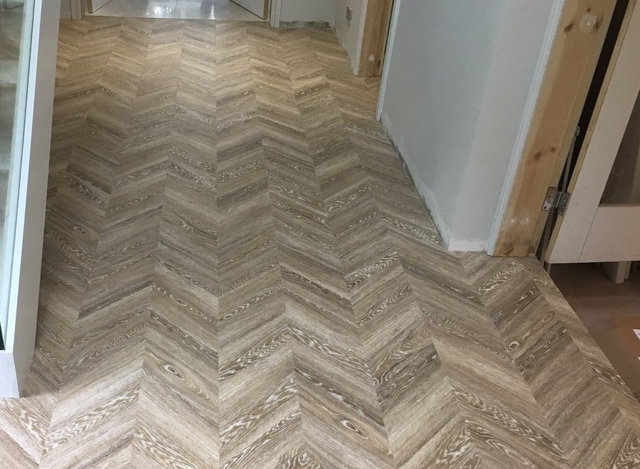 Flooring 4 You installed Amtico LVT Chevron parquet floor at a home in Bowdon Cheshire