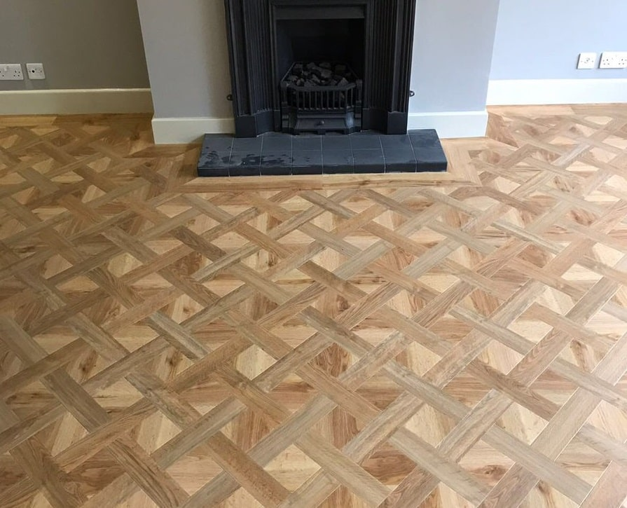 Flooring 4 You Ltd installed this Amtico parquet LVT floor in a two tone basket weave pattern