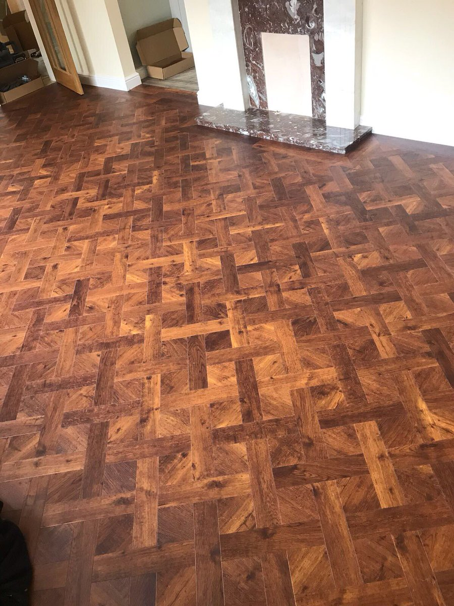 Flooring 4 You Ltd installed Amtico Signature Priory Oak in a Basket Weave pattern to a home in Altrincham