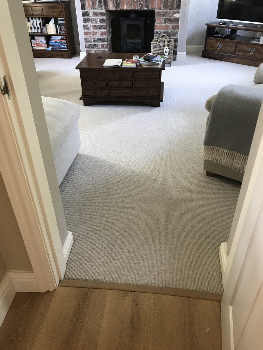 Carpet fitting from Flooring 4 You Ltd in Cheshire - this is the Beachcomber Strand wool loop carpet from Brockway Carpets