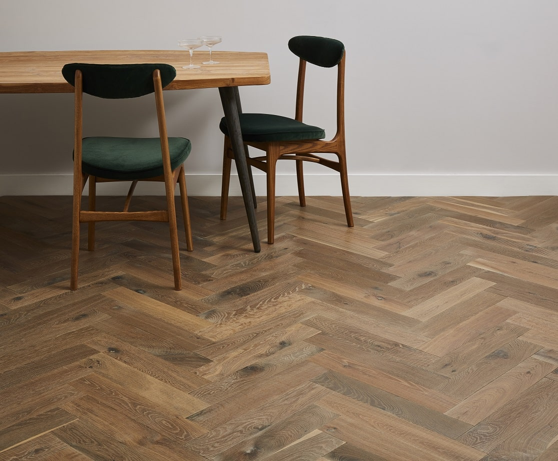 Champagney Herringbone in the Aged Woods collection, from Woodworks by Ted Todd - available from Flooring 4 You in Knutsford