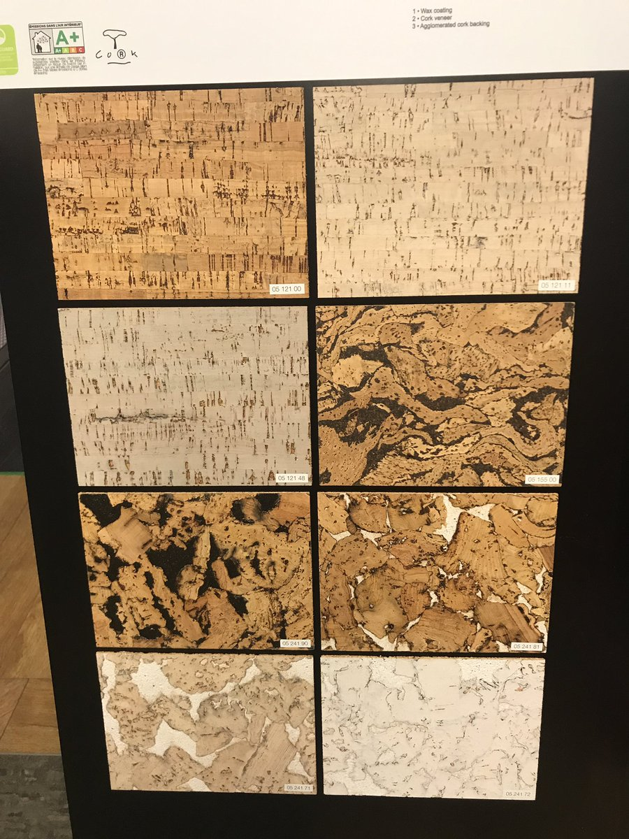 Cork flooring on display at the Flooring 4 You Ltd Knutsford showroom