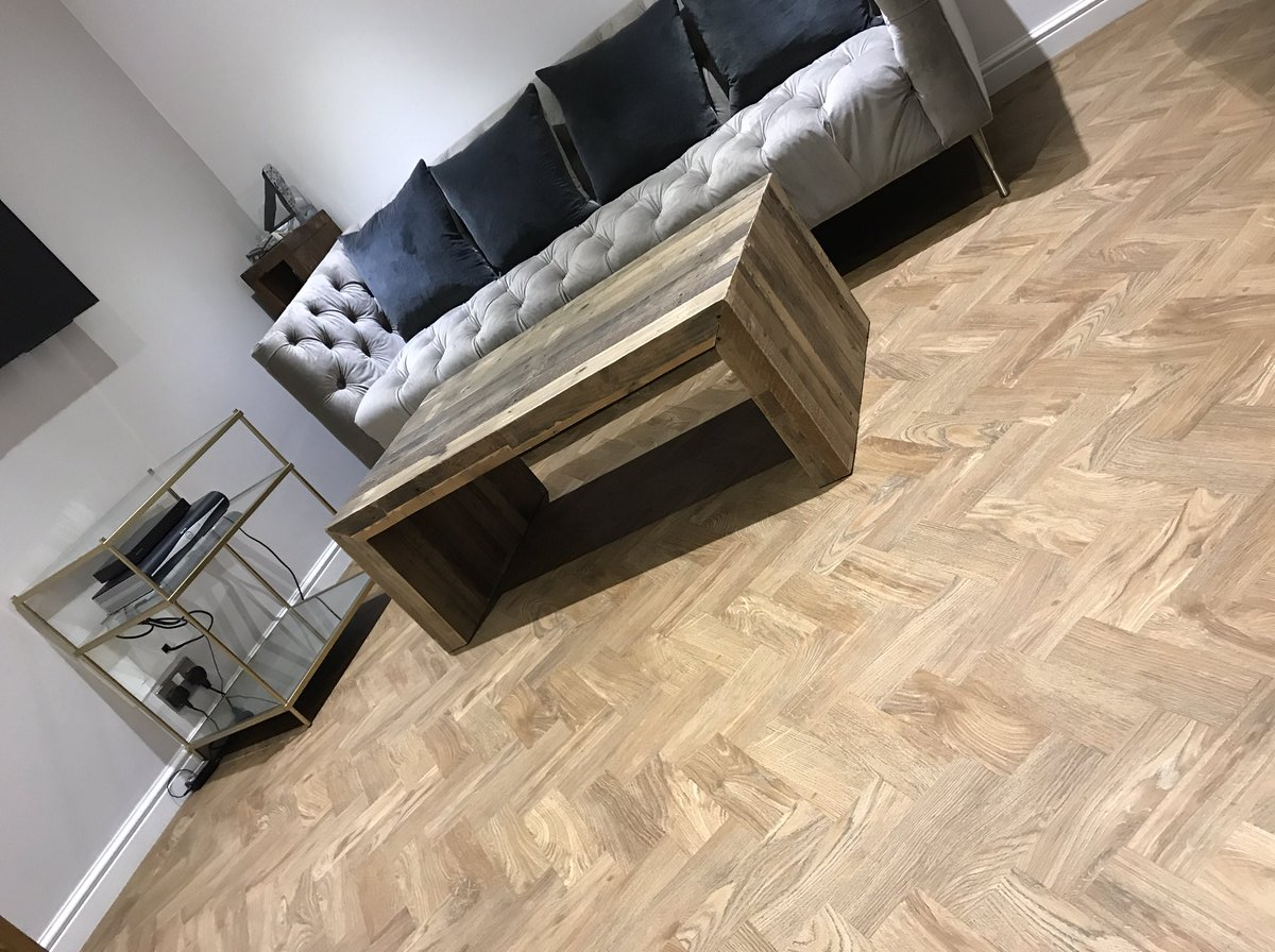 Distinctive LVT parquet floor installed by Flooring 4 You in Stockport