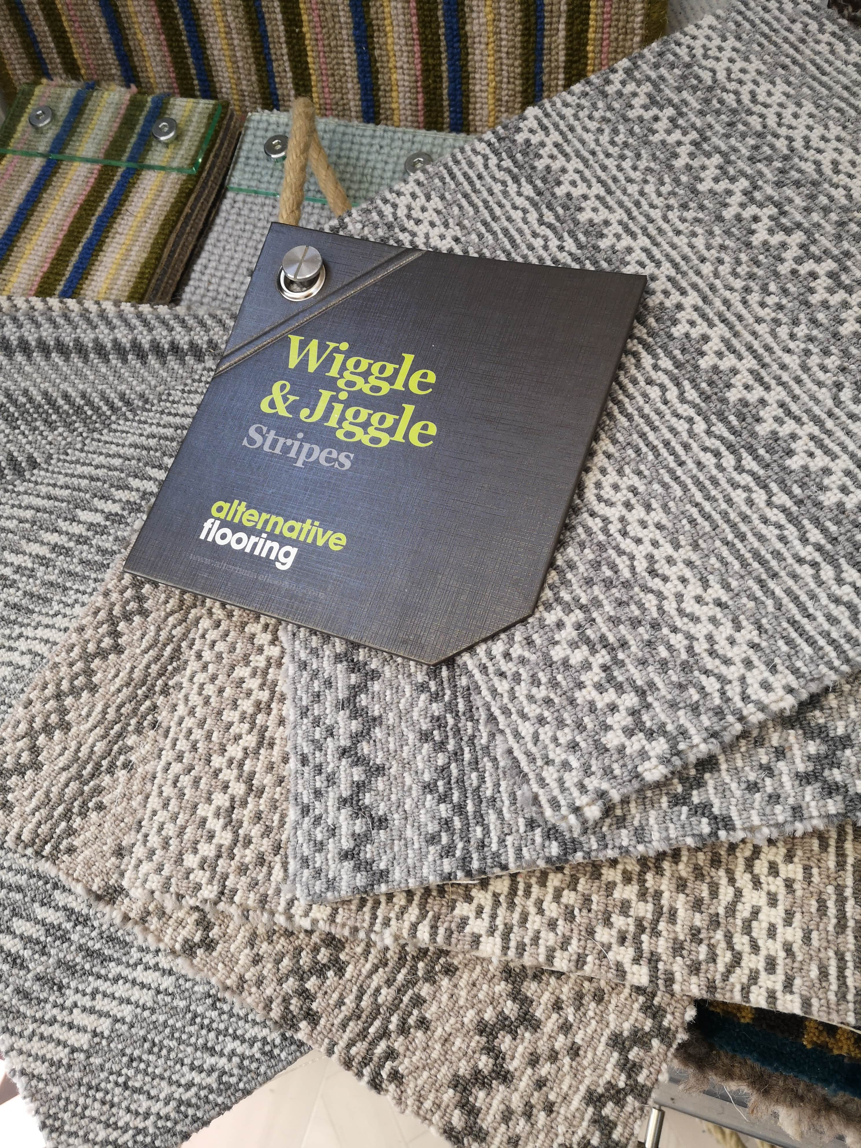 Wiggle & Jiggle handwoven carpet from Alternative Flooring available from Flooring 4 You Bowdon showroom