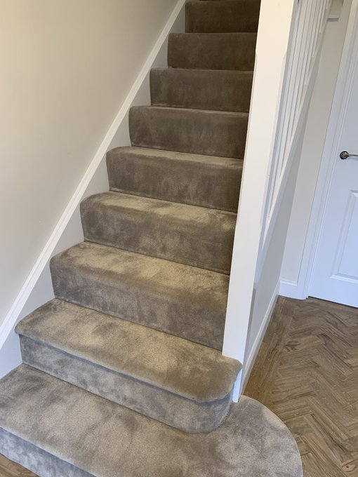 Flooring 4 You Ltd supply and install ITC faux silk carpets like this one on the stairs