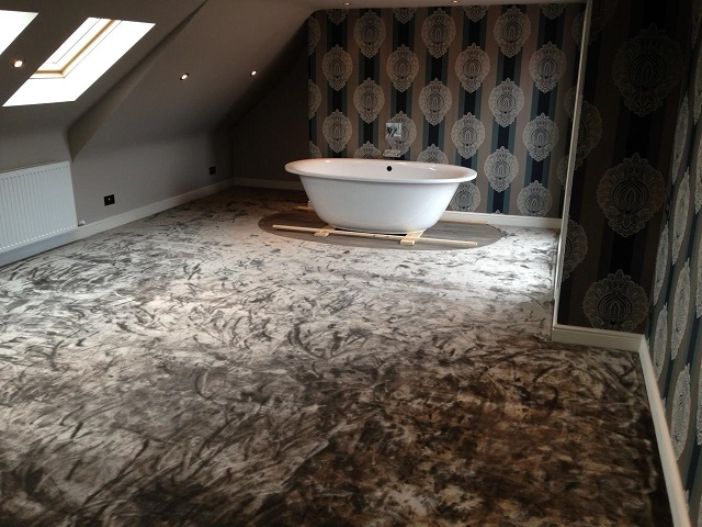 Jacaranda Simla silk effect carpet installed to a loft conversion in Hale, Cheshire