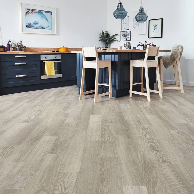 Karndean KP138 Grey Limed Oak with its wash of grey hues, available from Flooring 4 You Ltd