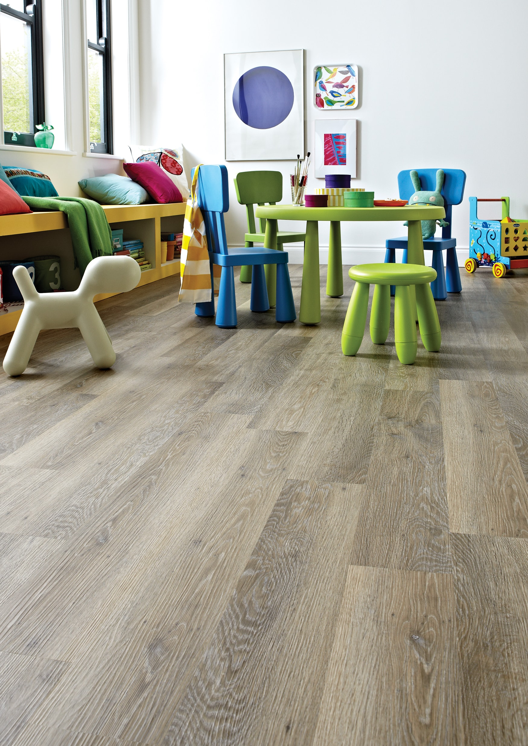 Karndean Knight Tile Lime Washed Oak available from Flooring 4 You Ltd, Cheshire
