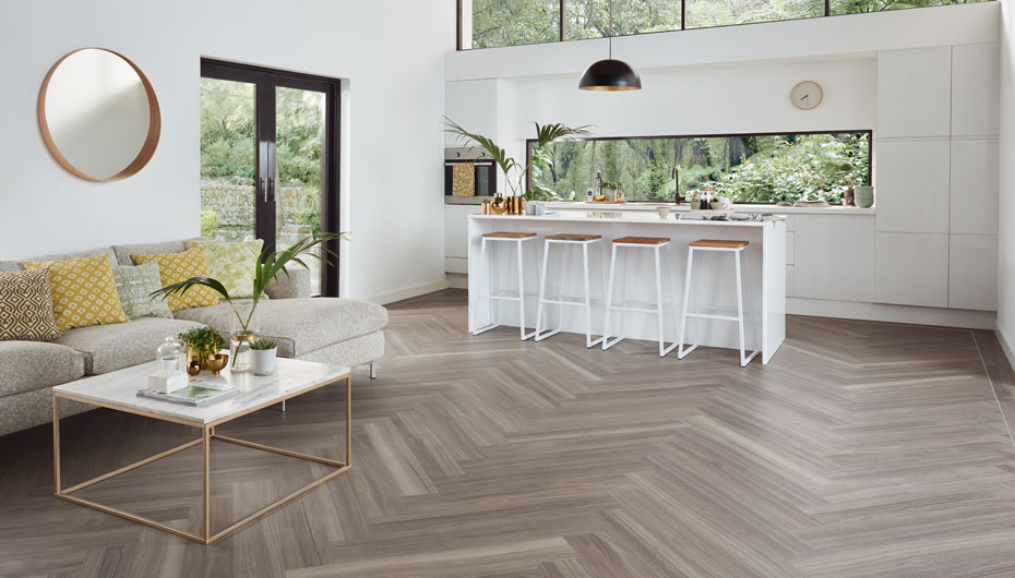 Karndean KP141 Urban Spotted Gum, the perfect LVT for modern homes, available from Flooring 4 You Ltd