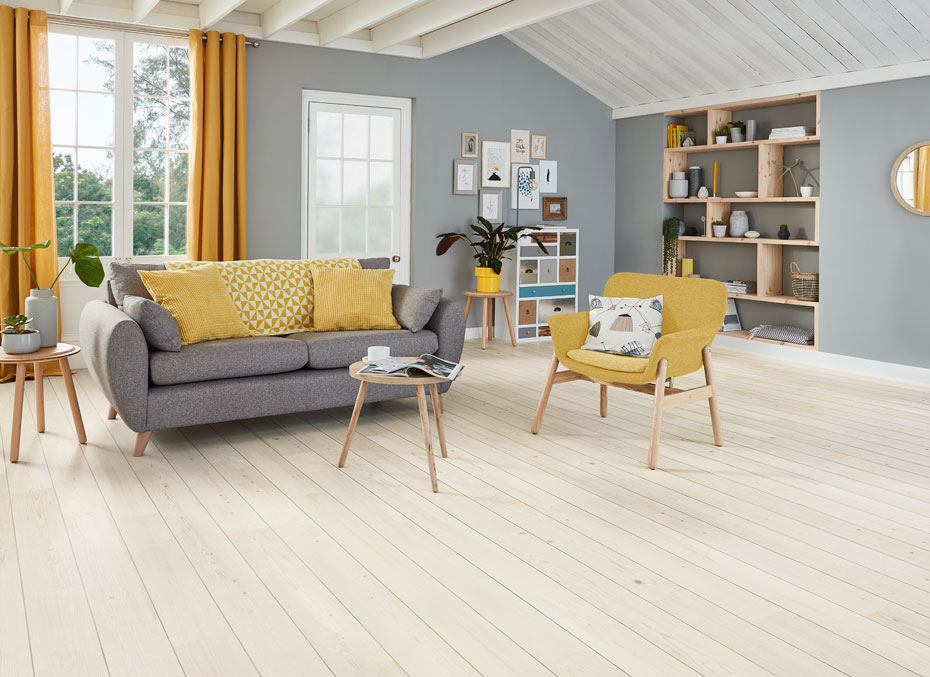 Karndean Knight Tile KP132 Washed Scandi Pine LVT plank available from Flooring 4 You Ltd in Cheshire