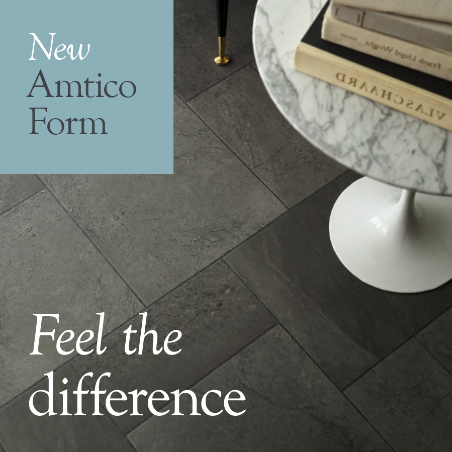 Amtico Form Cinder, a stone effect LVT tile, is available from Flooring 4 You Ltd in Cheshire
