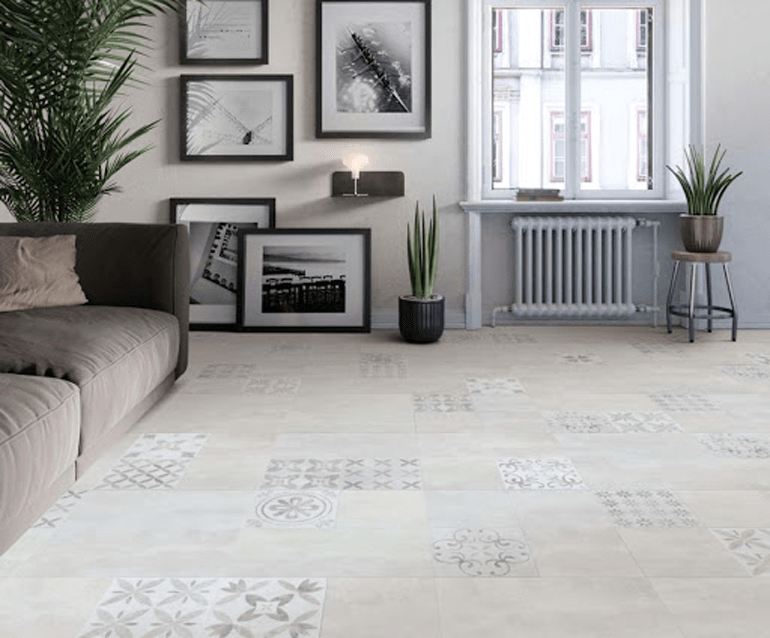 Tapestry and Shoreline square tiles in the Distinctive Flooring Landscape collection, available from Flooring 4 You in Cheshire