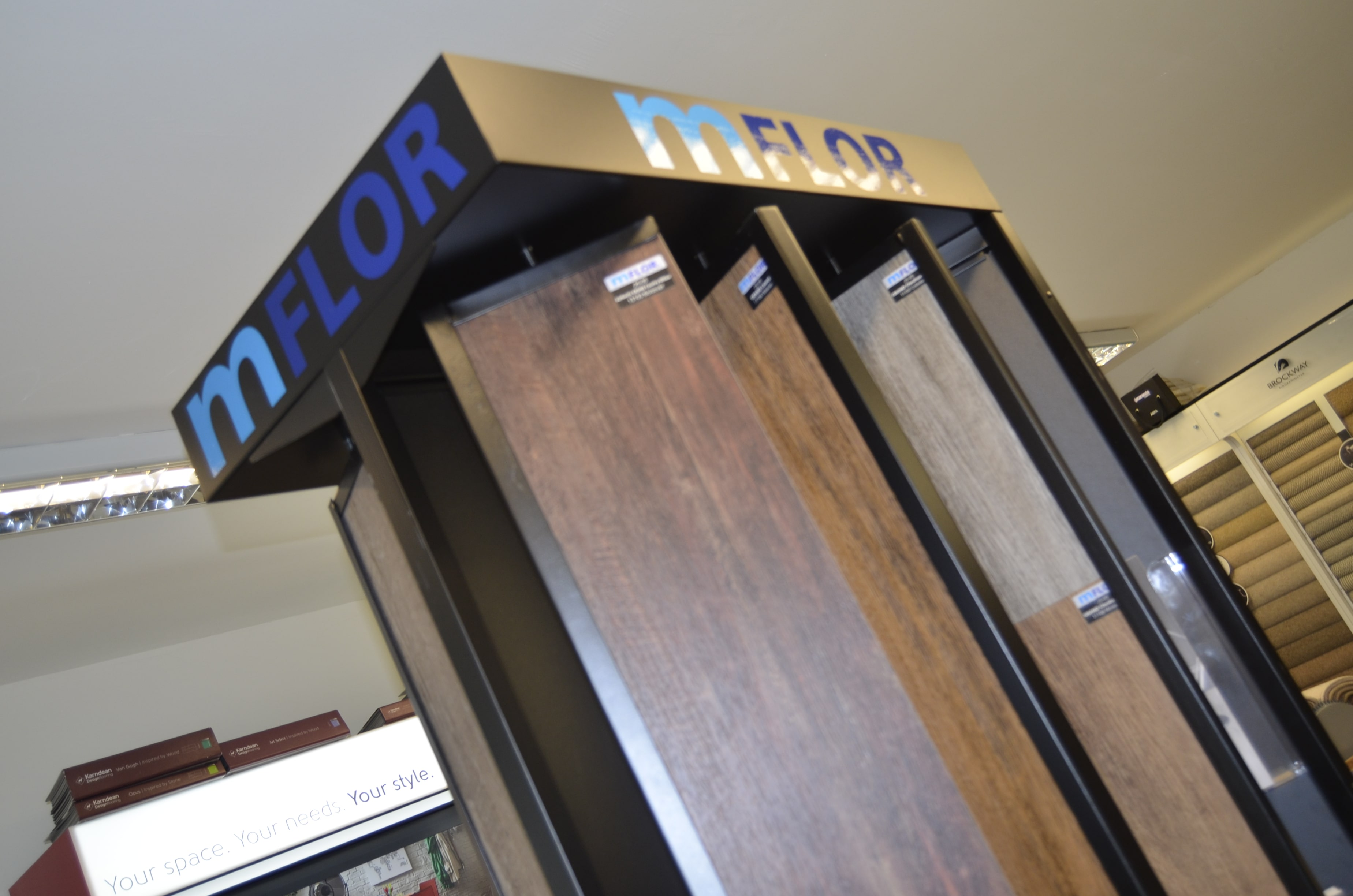 The mFLOR GRAND LVT samples at Flooring 4 You's Knutsford flooring showroom