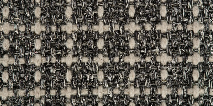 Crucial Trading Sisool plaid in rich black available from Flooring 4 You Ltd