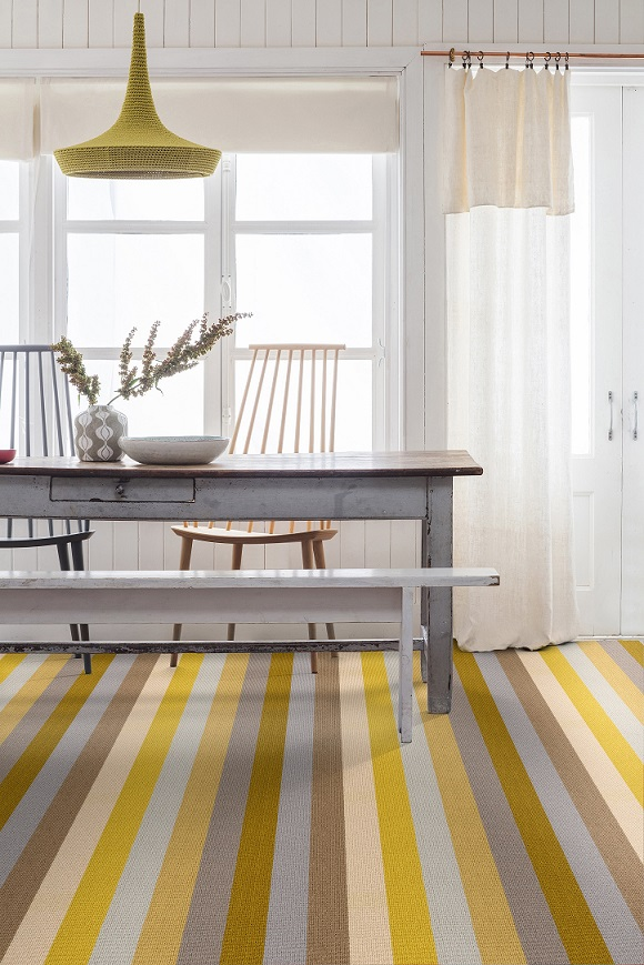 Margo Selby Stripe Sun in Whitstable from Alternative Flooring, available from Flooring 4 You Ltd