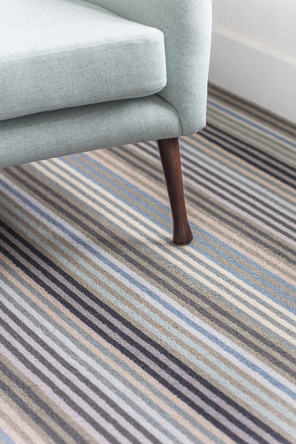 Alternative Flooring Margo Selby Stripe Surf carpet in Botany available from Flooring 4 You Ltd