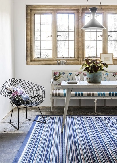 The Alternative Flooring Rock'n'Roll collection features stripy wool rugs - design your Alternative Flooring rug with Flooring 4 You