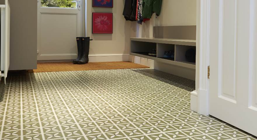 Make an entrance with hallway flooring for Tiled hallway floor ideas
